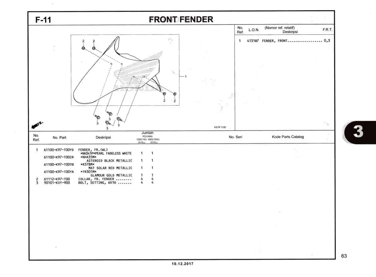 F-11-Front-Fender-Katalog-Pcx-150-K97