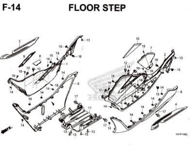 F-14-Floor-Step-Pcx-150-K97