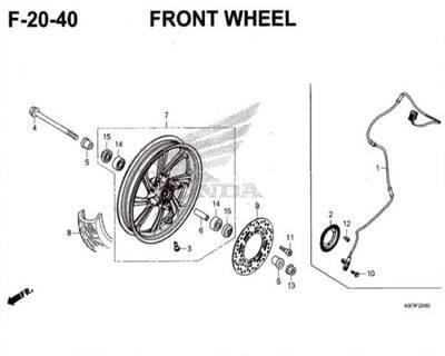 F20-40 – Front Wheel – Katalog Honda PCX 150 K97