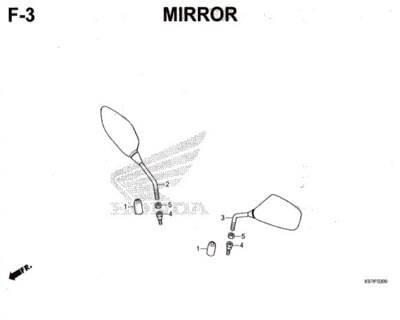 F3 – Mirror – Katalog Honda PCX 150 K97
