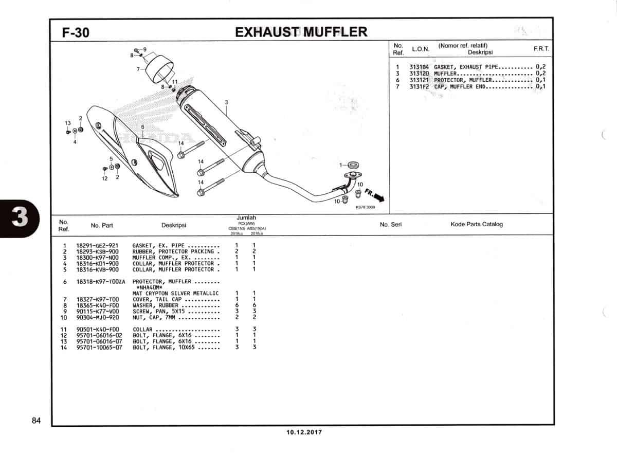 F-30-Exhaust-Muffler-Katalog-Pcx-150-K97