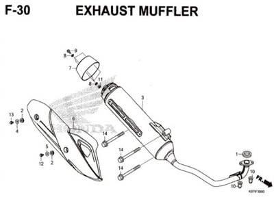 F-30-Exhaust-Muffler-Pcx-150-K97