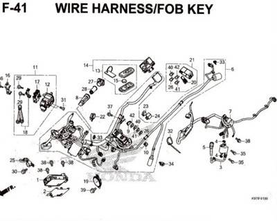 F-41-Wire-Harness-Fob-Key-Pcx-150-K97