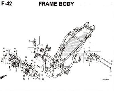 F42 – Frame Body – Katalog Honda PCX 150 K97