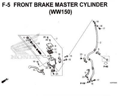 F5 – Front Brake Master Cylinder (WW150) – Katalog Honda PCX 150 K97