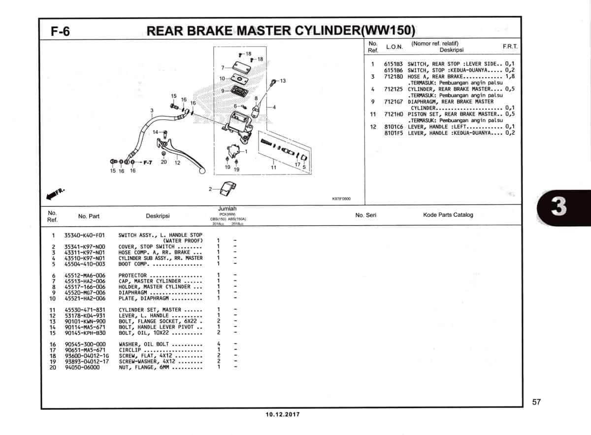 F-6-Rear-Brake-Master-Cylinder-(WW150)-Katalog-Pcx-150-K97