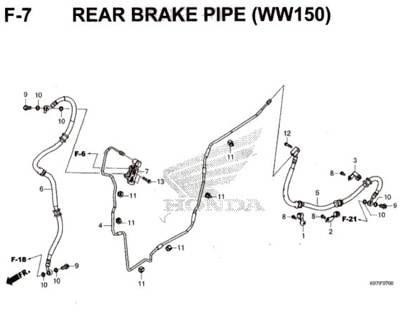 F-7-Rear-Brake-Pipe-(WW150)-Pcx-150-K97
