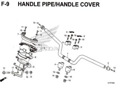 F-9-Handle-Pipe-Handle-Cover-Pcx-150-K97