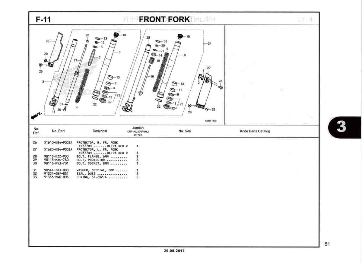 F11-1-Front-Fork-Katalog-Honda-Crf-150L