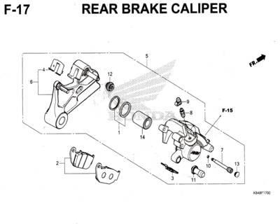 F17-Rear-Brake-Caliper-Honda-Crf-150L