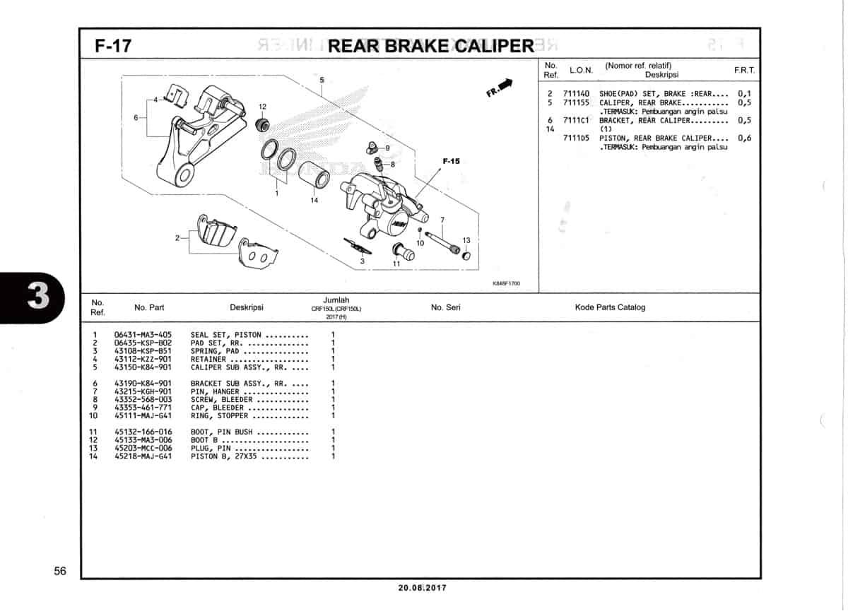 F17-Rear-Brake-Caliper-Katalog-Honda-Crf-150L