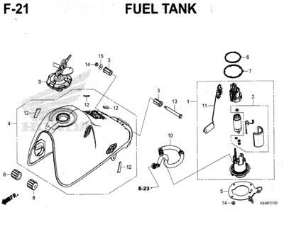 F21 – Fuel Tank – Katalog Honda CRF 150L