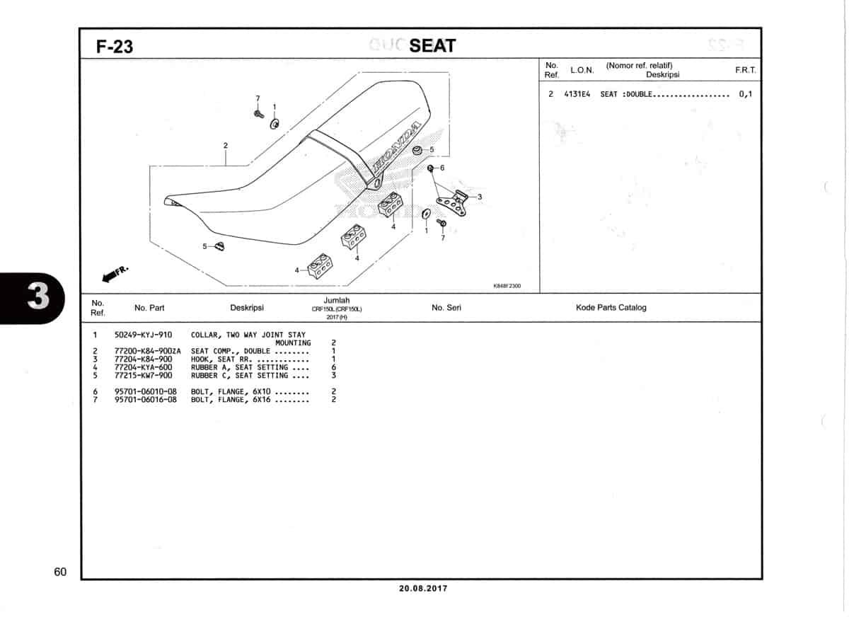 F23-Seat-Katalog-Honda-Crf-150L