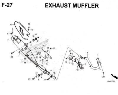 F27 – Exhaust Muffler – Katalog Honda CRF 150L