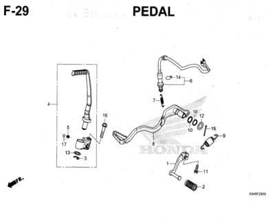 F29 – Pedal – Katalog Honda CRF 150L