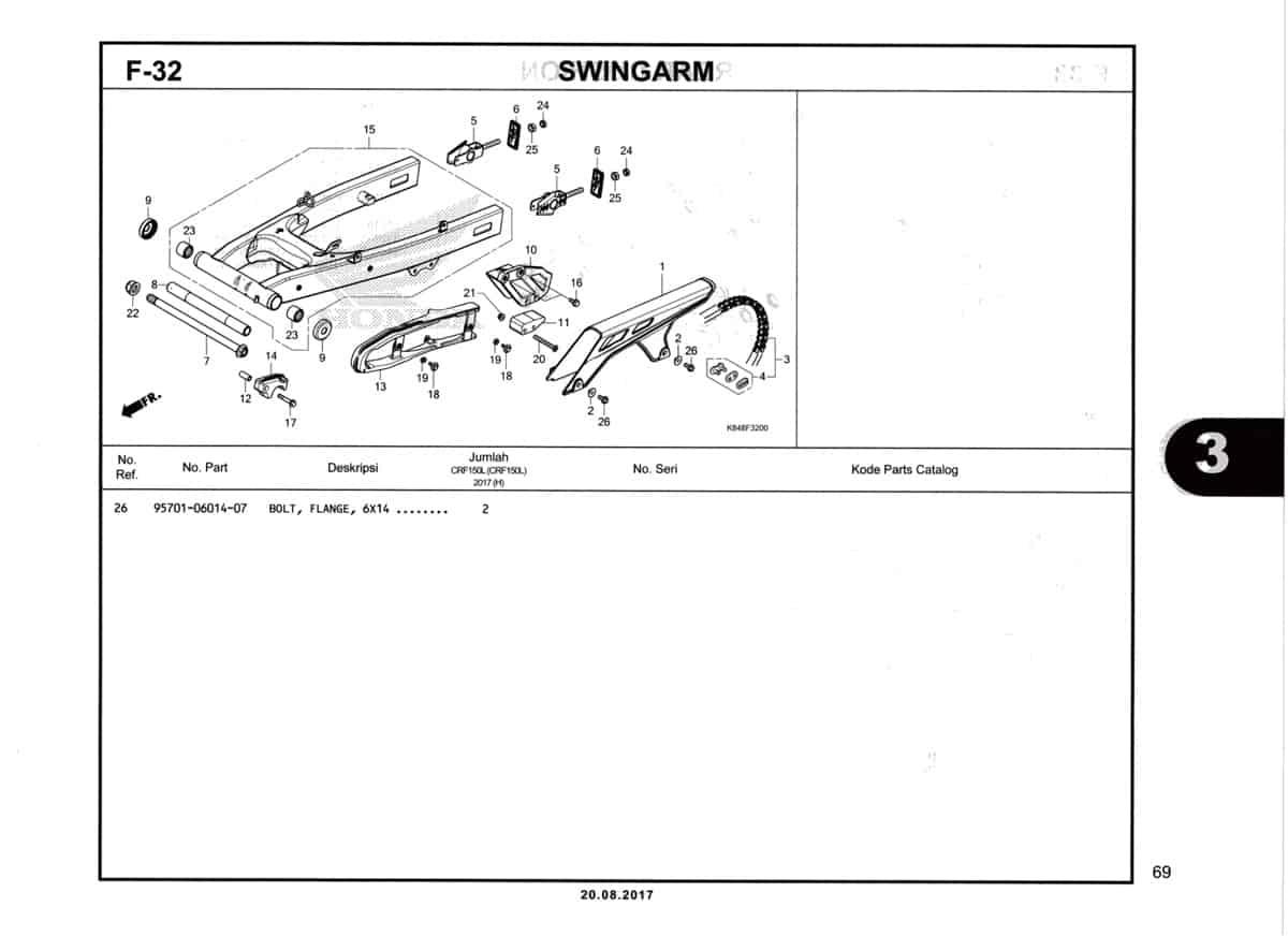 F32-Swingarm-Katalog-Honda-Crf-150L