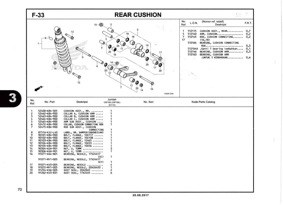 F33-Rear-Cushion-Katalog-Honda-Crf-150L