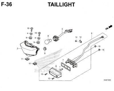 F36 – Taillight – Katalog Honda CRF 150L