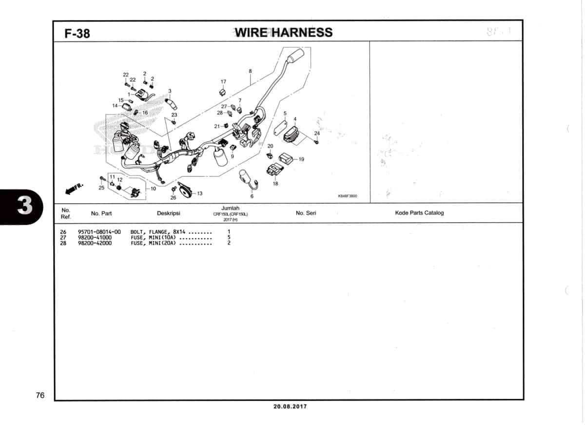 F38-Wire-Harness-Katalog--Honda-Crf-150L