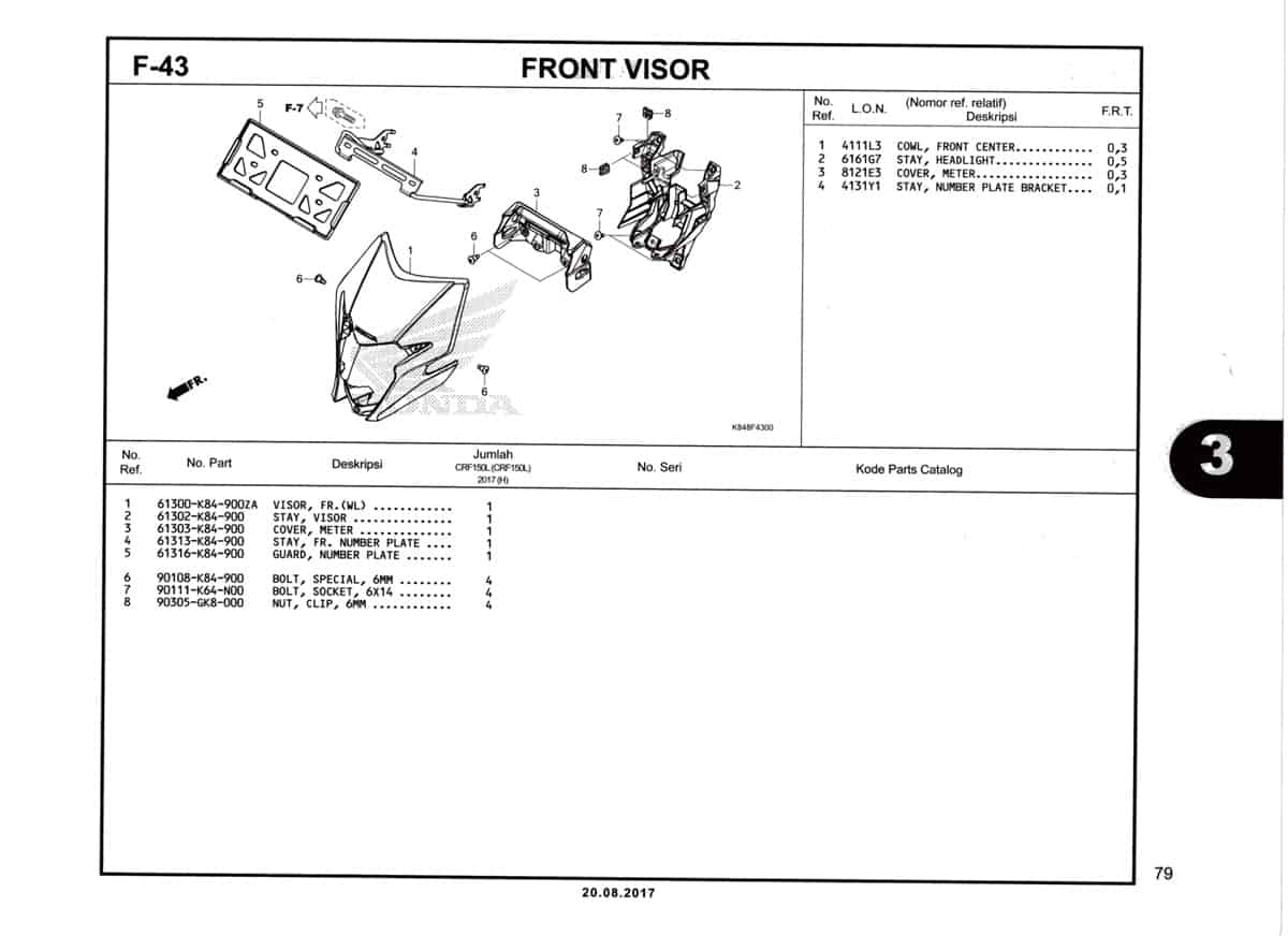 F43-Front-Visor-Katalog-Honda-Crf-150L
