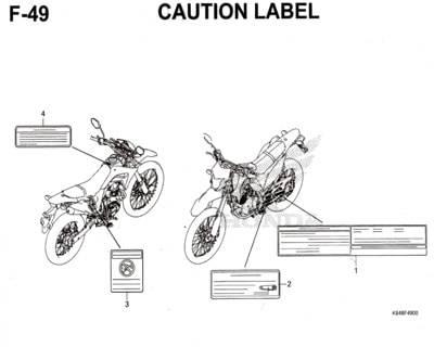 F49-Caution-Label-Honda-Crf-150L