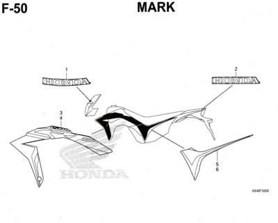 F50 – Mark – Katalog Honda CRF 150L
