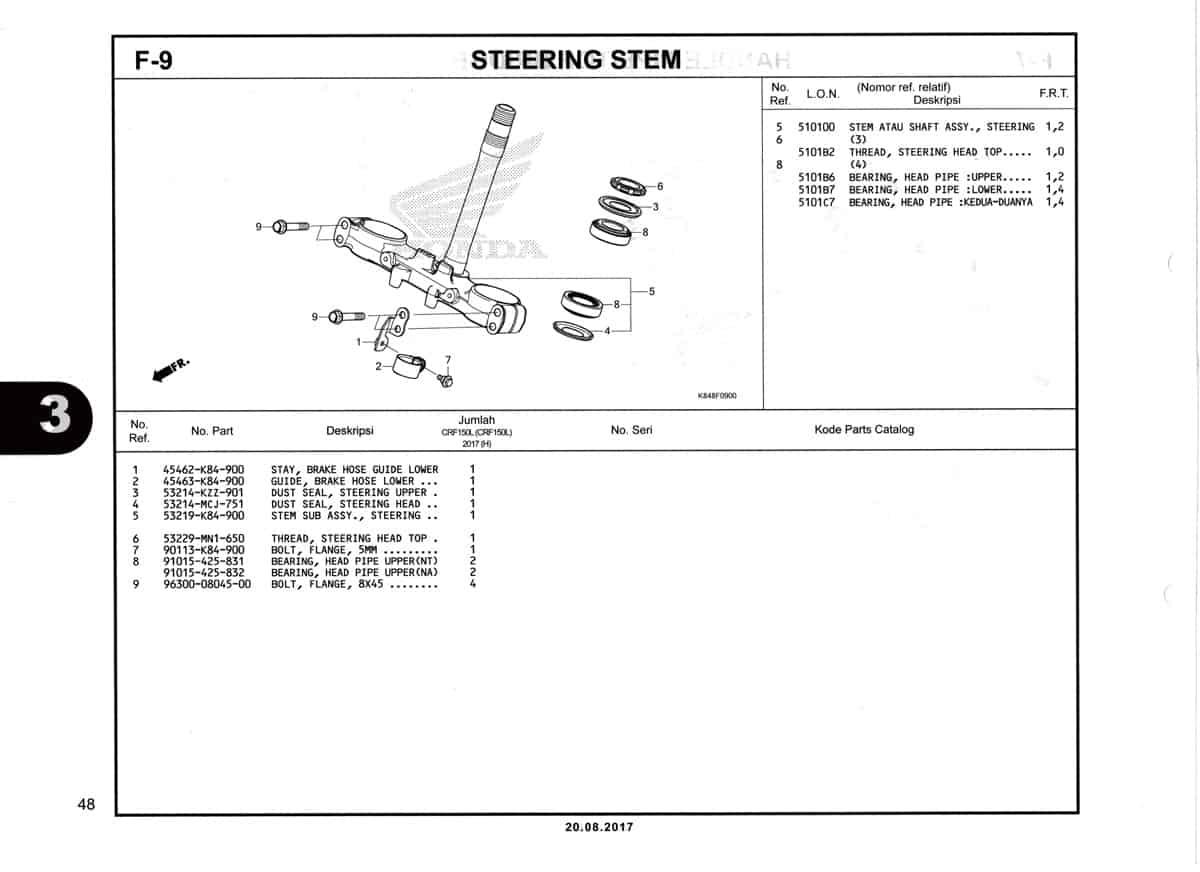 F9-Steering-Stem-Katalog-Honda-Crf-150L