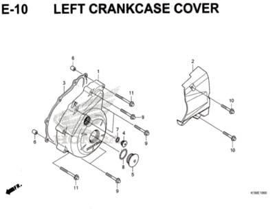 E-10-Left-Crankcase-Cover-CB150-Verza