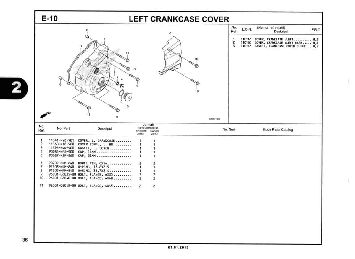 E-10-Left-Crankcase-Cover-Katalog-CB150-Verza