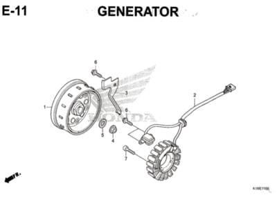 E11 – Generator – Katalog Honda CB150 Verza