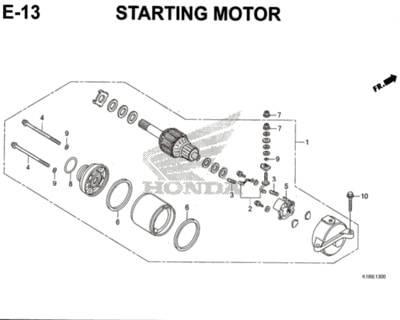 E13 – Starting Motor – Katalog Honda CB150 Verza