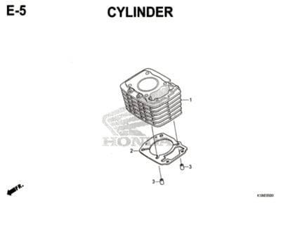 E5 – Cylinder – Katalog Honda CB150 Verza