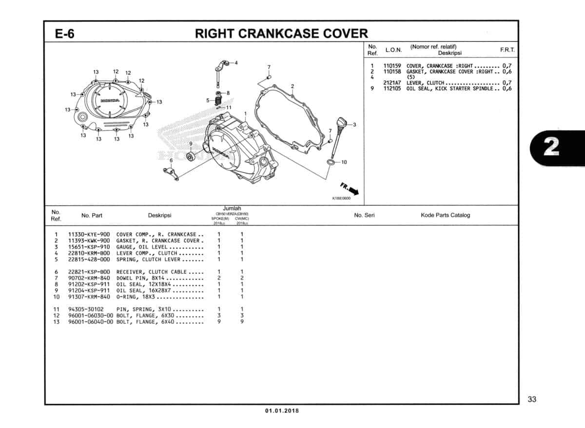 E-6-Right-Crankcase-Cover-Katalog-CB150-Verza