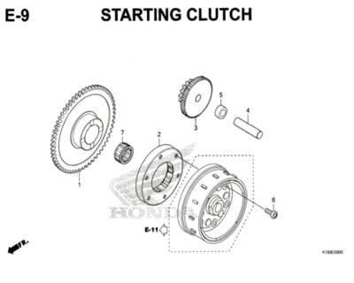 E-9-Starting-Clutch-CB150-Verza