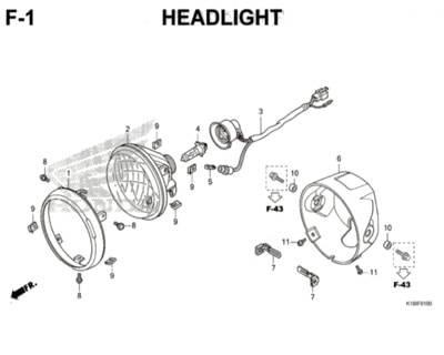 F1 – Headlight – Katalog Honda CB150 Verza