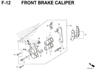 F12 – Front Brake Caliper – Katalog Honda CB150 Verza