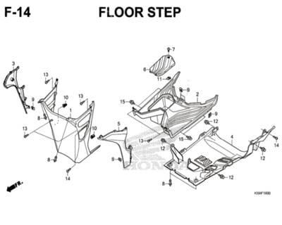 F14 – Floor Step – Katalog Honda New Vario 150 K59J