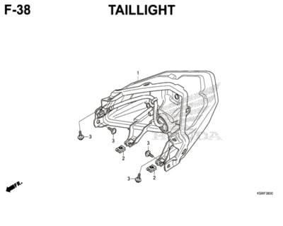 F38 – Taillight – Katalog Honda New Vario 150 K59J