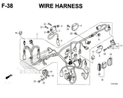 F38 – Wire Harness – Katalog Honda CB150 Verza