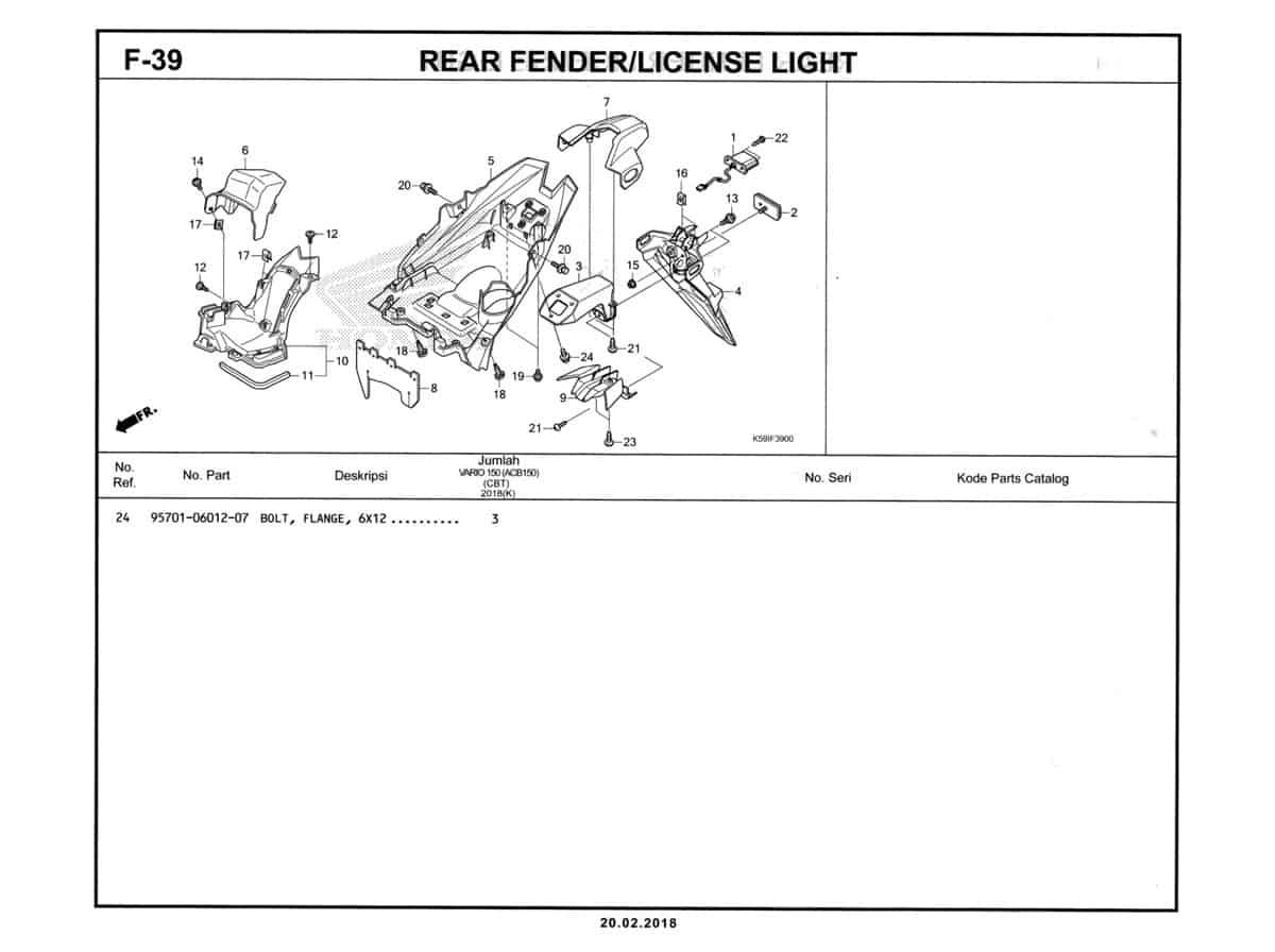 F-39-1-Rear-Fender-License-Light-Katalog-New-Vario-150-K59J