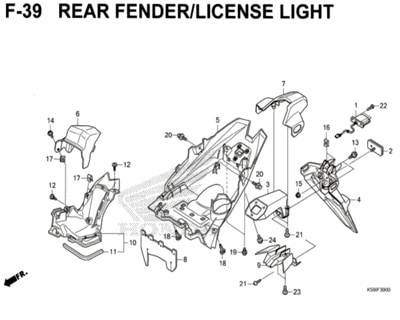 F-39-Rear-Fender-License-Light-New-Vario-150-K59J