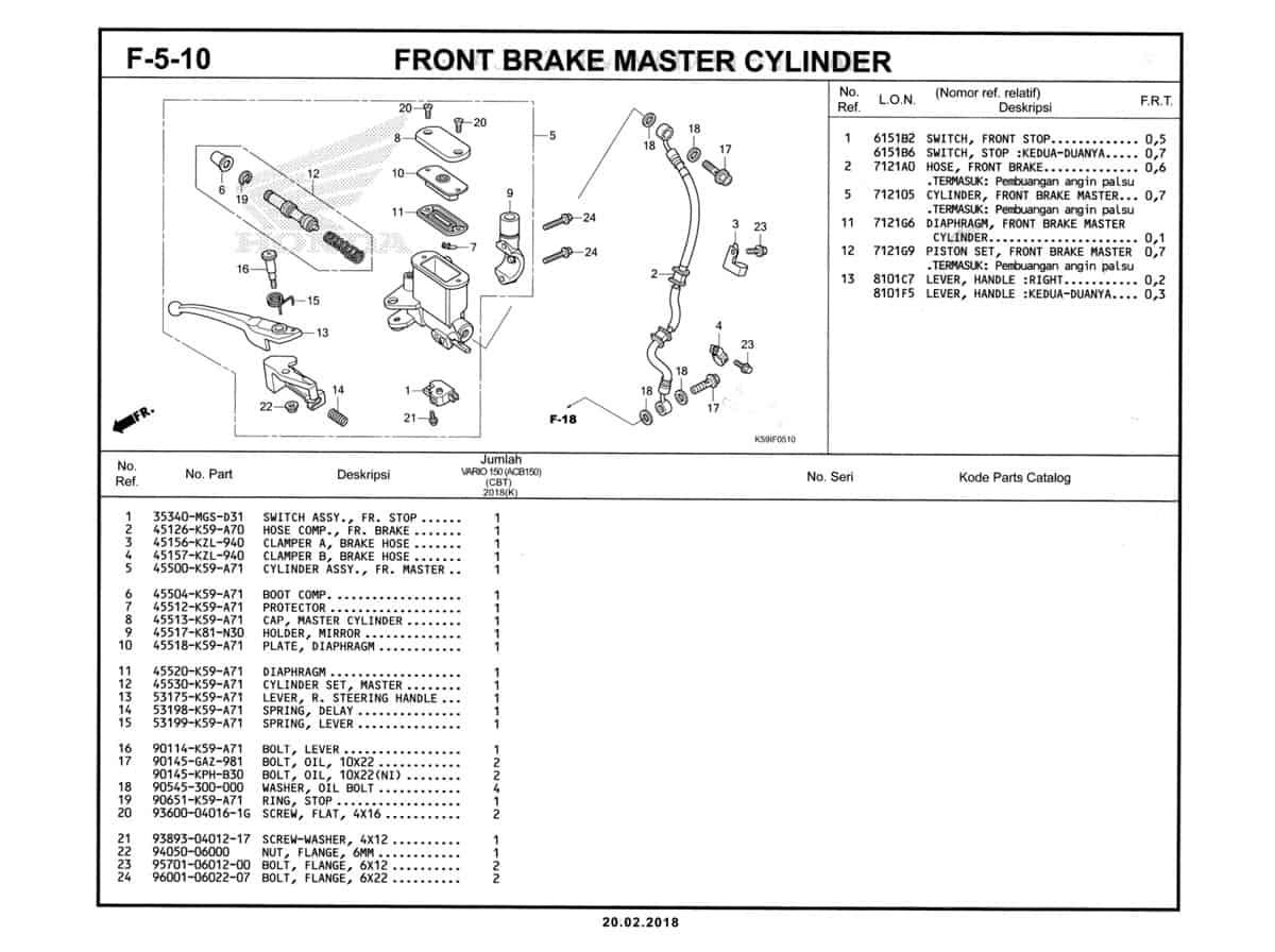 F-5-10-Front-Brake-Master-Cylinder-Katalog-New-Vario-150-K59J