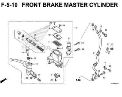 F5-10 – Front Brake Master Cylinder – Katalog Honda New Vario 150 K59J