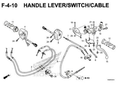 F4-10 – Handle Lever / Switch / Cable – Katalog Honda New Vario 150 K59J