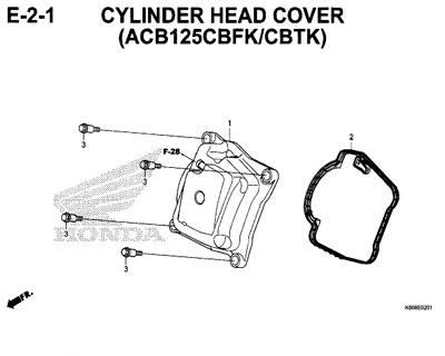 E2-1 Cylinder Head Cover (ACB125CBFK/CBTK) – Katalog Honda New Vario 125 K60R