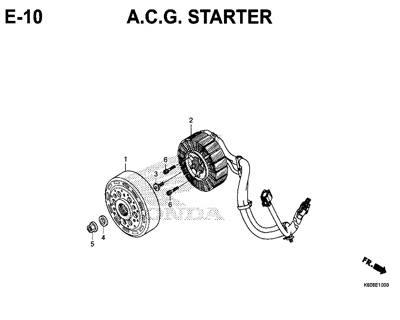 E10 – A.C.G Starter – Katalog Honda New Vario 125 K60R