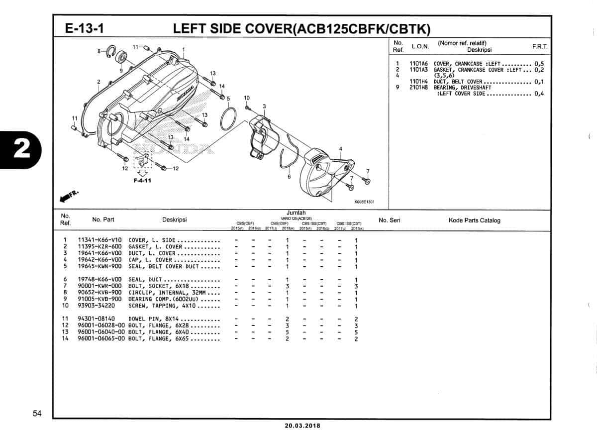 E-13-1-Left-Side-Cover-(ACB125CBFK-CBTK)-Katalog-New-Vario-125-K60R