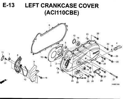 E-13-Left-Crankcase-Cover-(ACI110CBE)-New-Vario-110