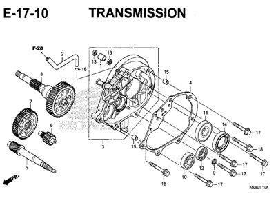 E17-10 – Transmission – Katalog Honda New Vario 125 K60R