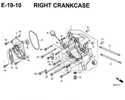 E19-10 – Right Crankcase – Katalog Honda New Vario 125 K60R